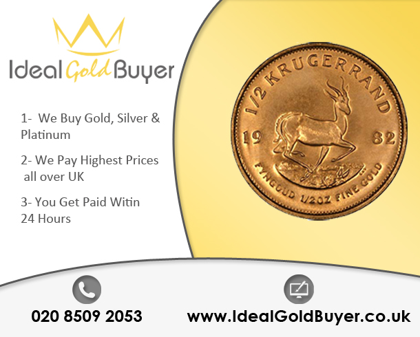 Sell Gold Krugerrands  For Cash Online
